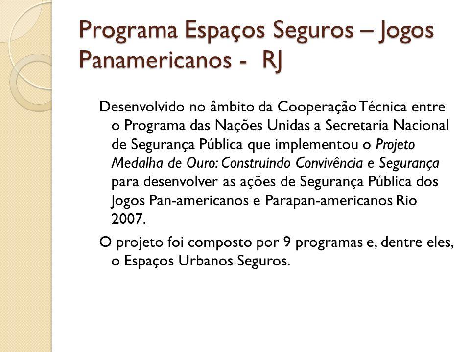 Programa Espaços Seguros – Jogos Panamericanos - RJ