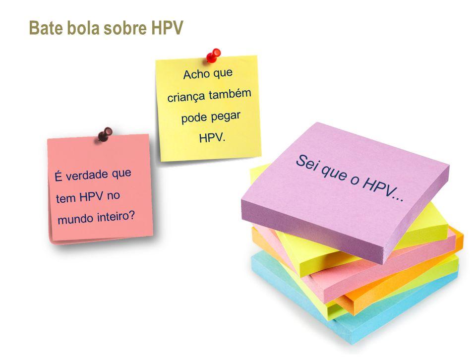 Acho que criança também pode pegar HPV.