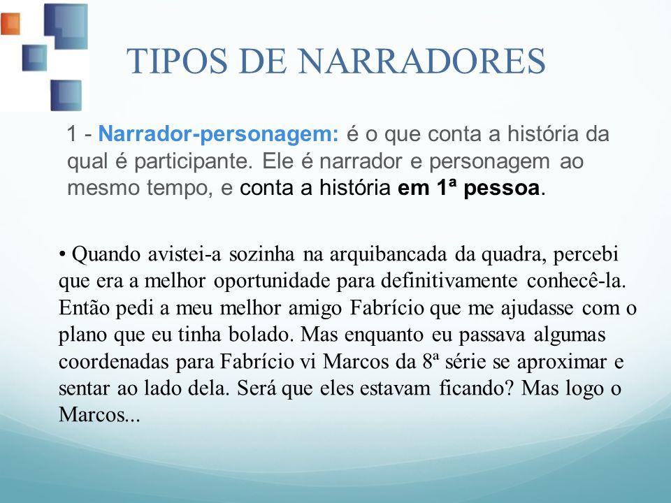 TIPOS DE NARRADORES