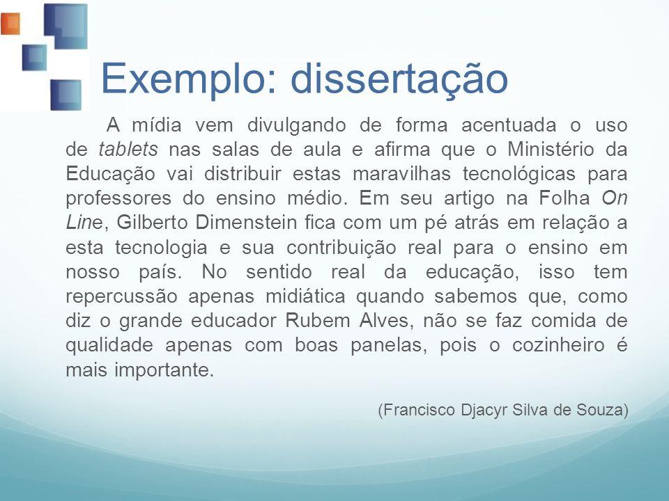 Exemplo: dissertação