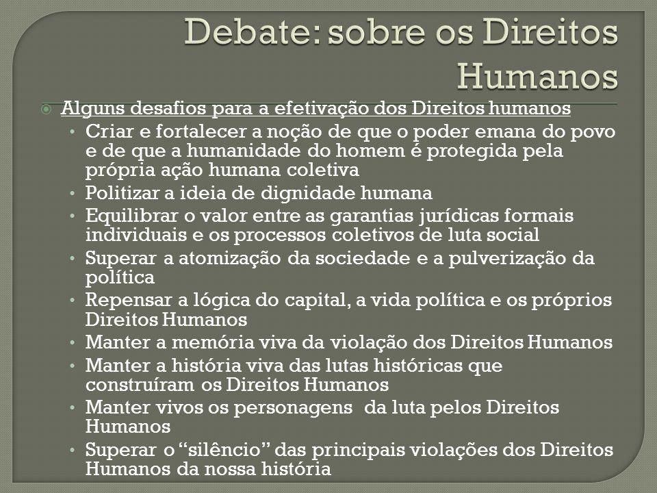 Debate: sobre os Direitos Humanos