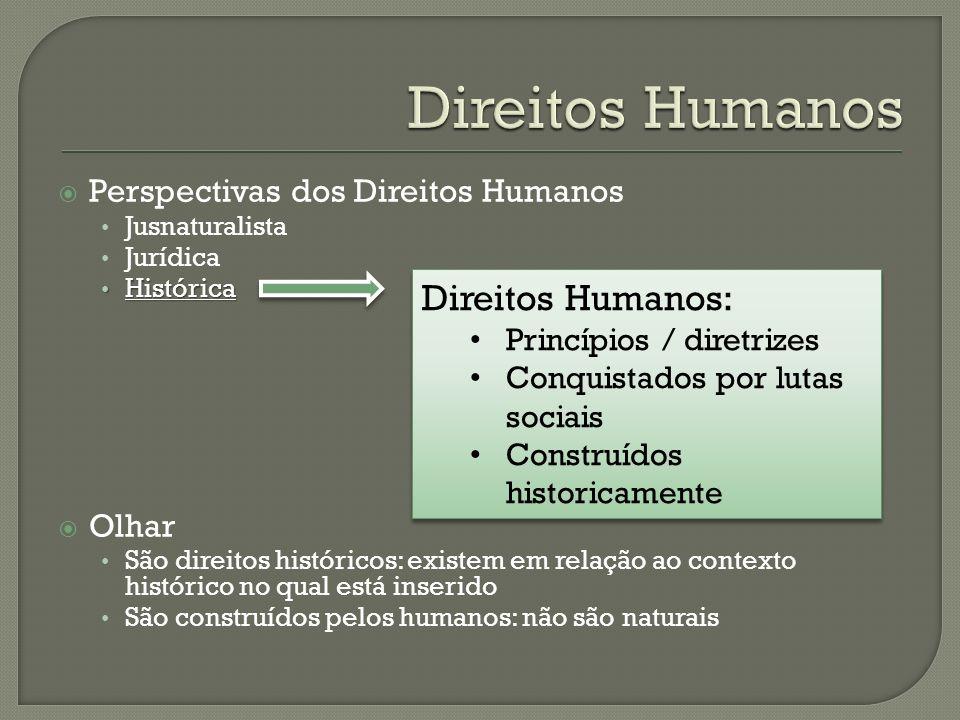 Direitos Humanos Direitos Humanos: Perspectivas dos Direitos Humanos