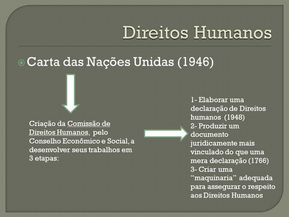 Direitos Humanos Carta das Nações Unidas (1946)