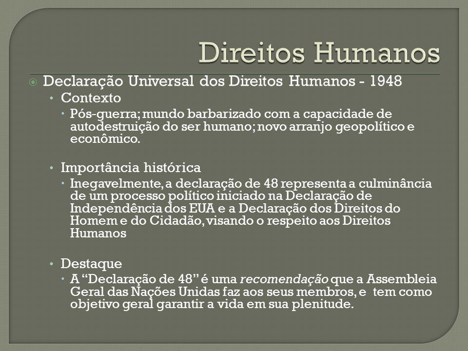 Direitos Humanos Declaração Universal dos Direitos Humanos - 1948