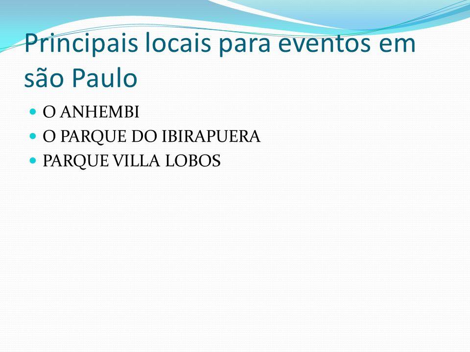 Principais locais para eventos em são Paulo