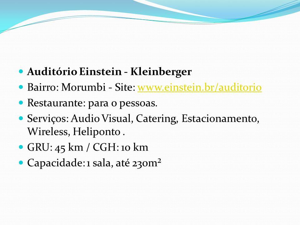 Auditório Einstein - Kleinberger