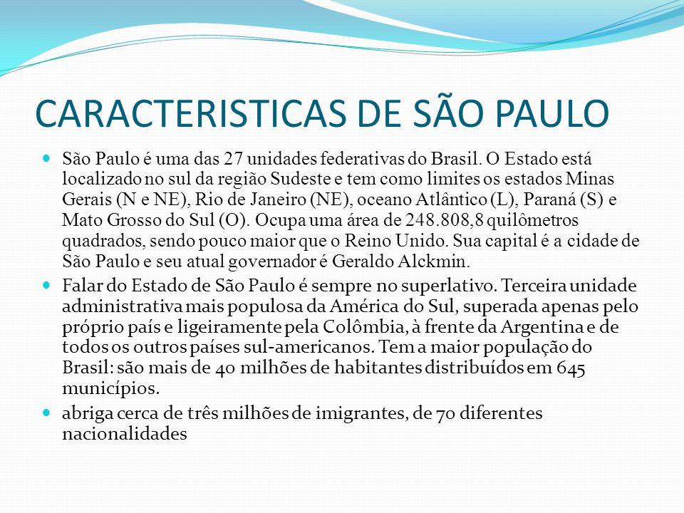 CARACTERISTICAS DE SÃO PAULO