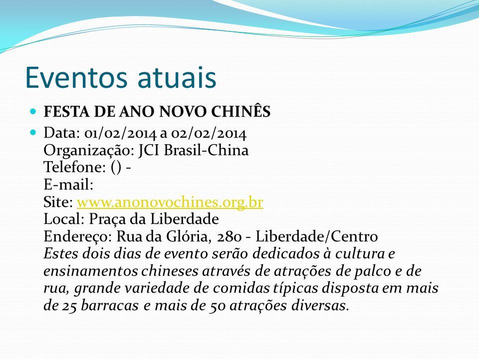 Eventos atuais FESTA DE ANO NOVO CHINÊS