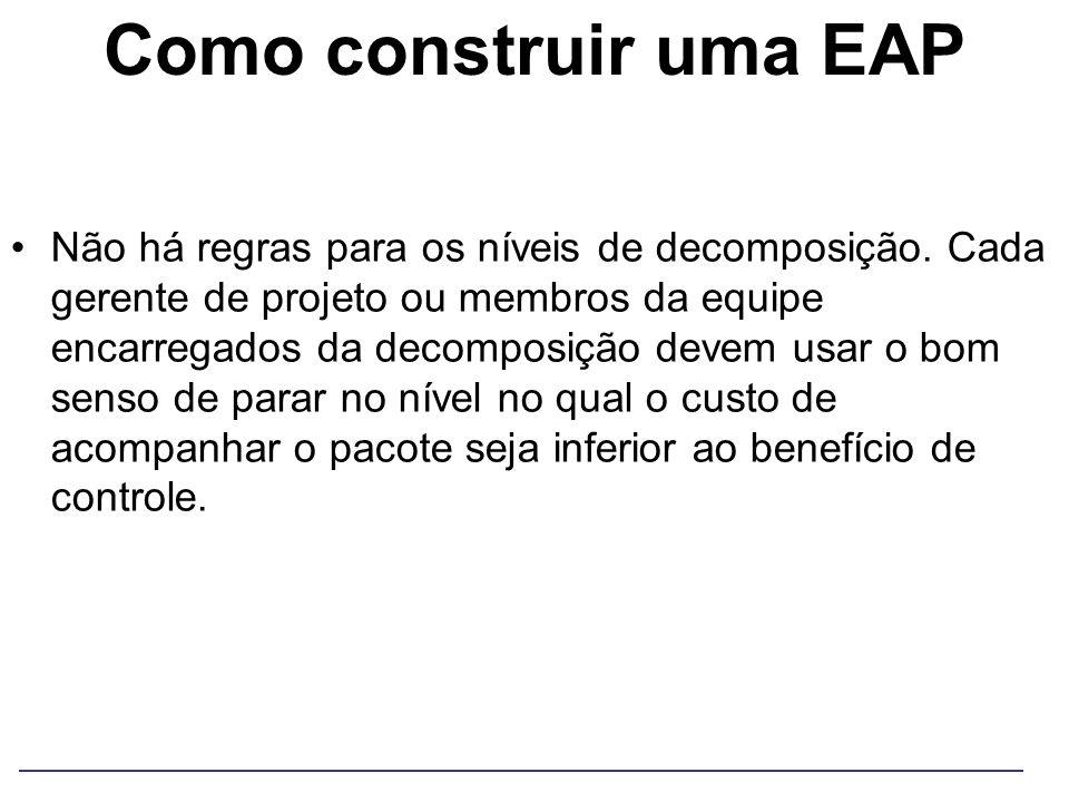 Como construir uma EAP