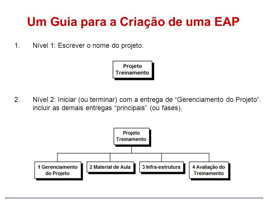 Um Guia para a Criação de uma EAP