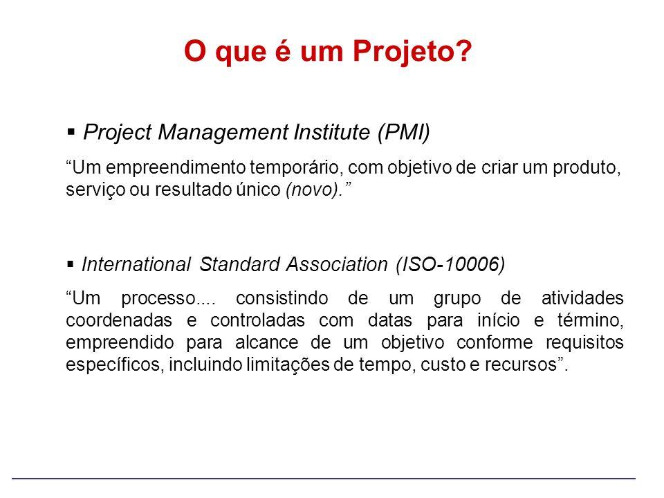 O que é um Projeto Project Management Institute (PMI)