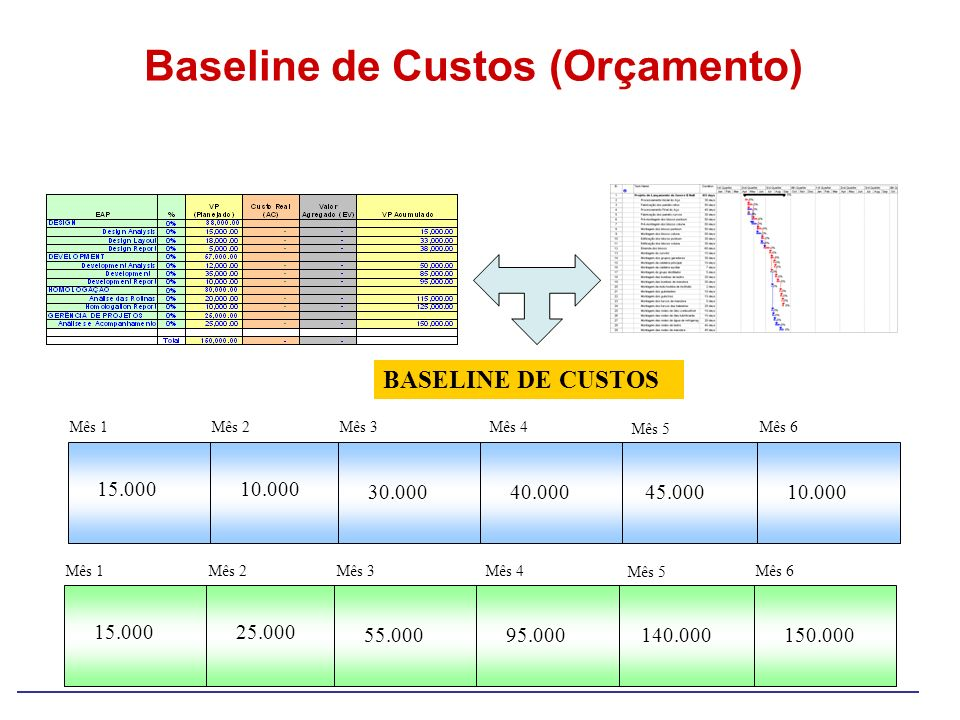 Baseline de Custos (Orçamento)