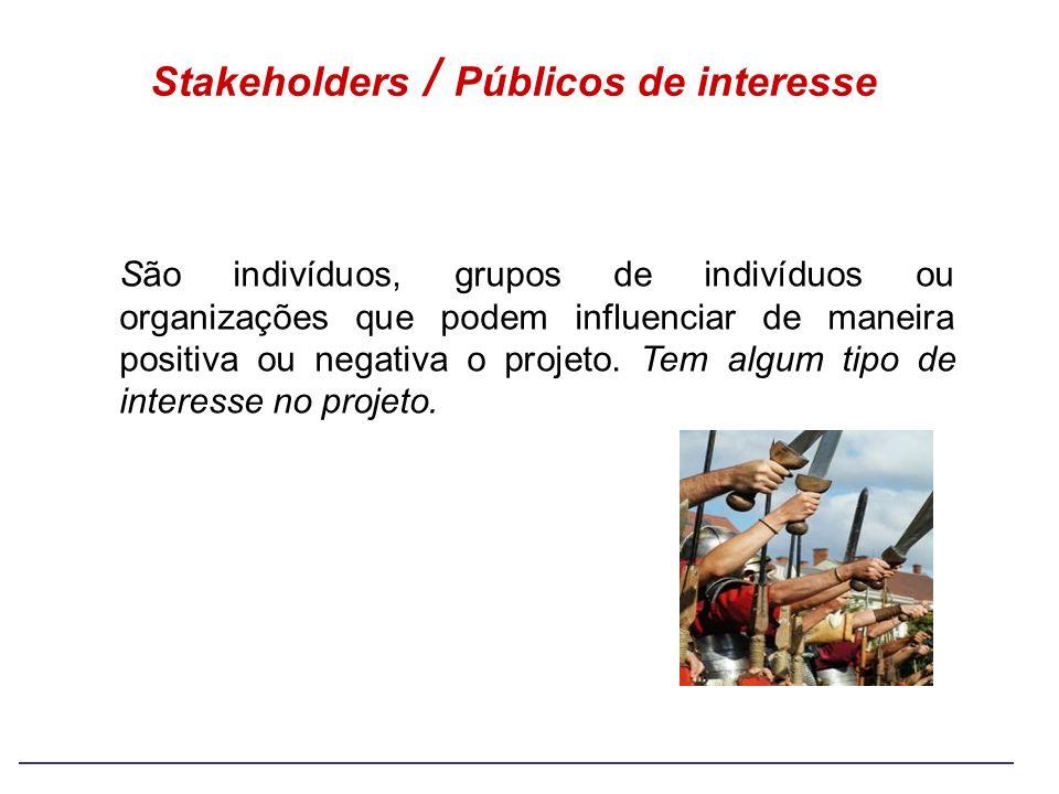 Stakeholders / Públicos de interesse