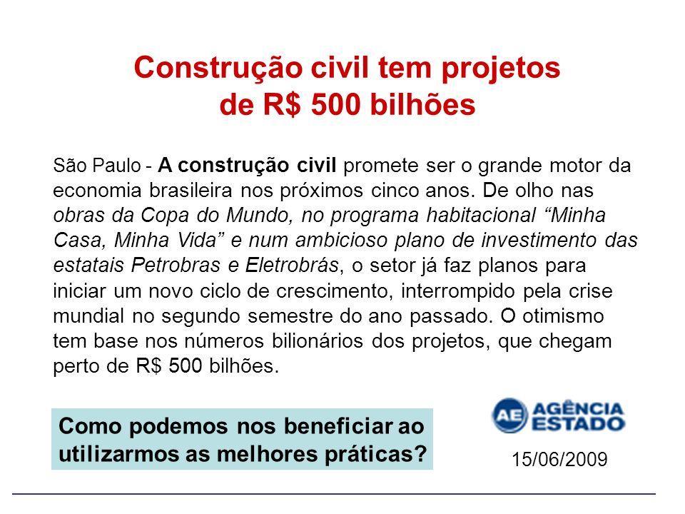 Construção civil tem projetos de R$ 500 bilhões