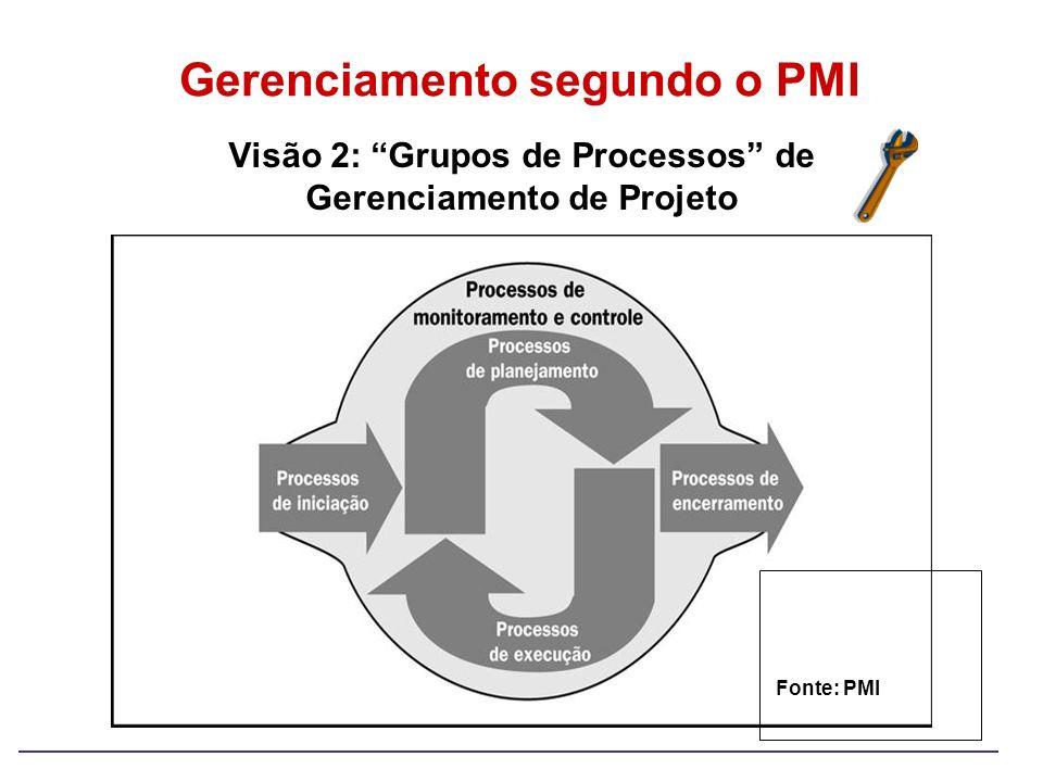 Visão 2: Grupos de Processos de Gerenciamento de Projeto