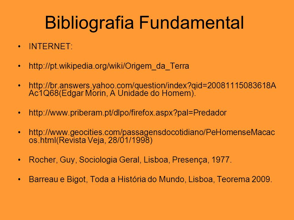Bibliografia Fundamental