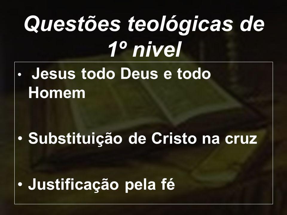 Questões teológicas de 1º nivel