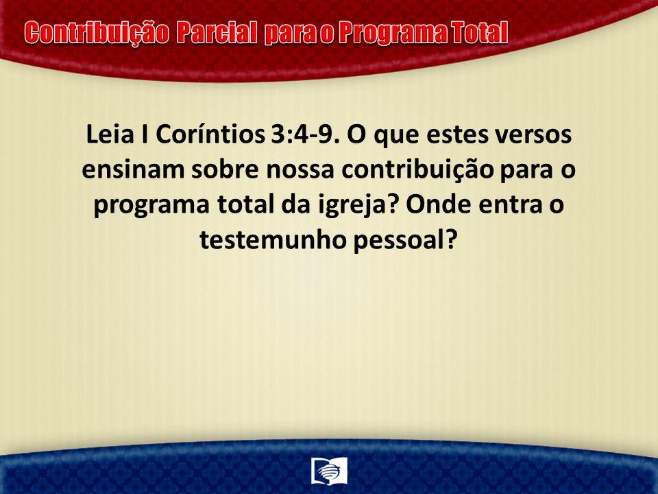 Contribuição Parcial para o Programa Total