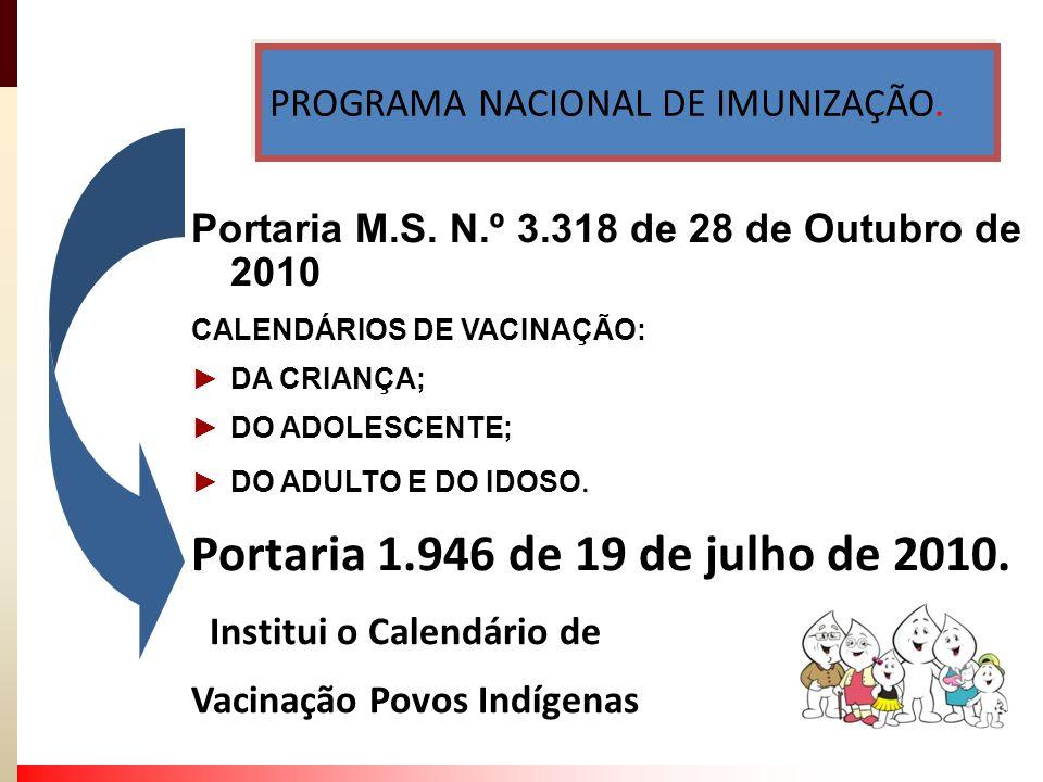 PROGRAMA NACIONAL DE IMUNIZAÇÃO.