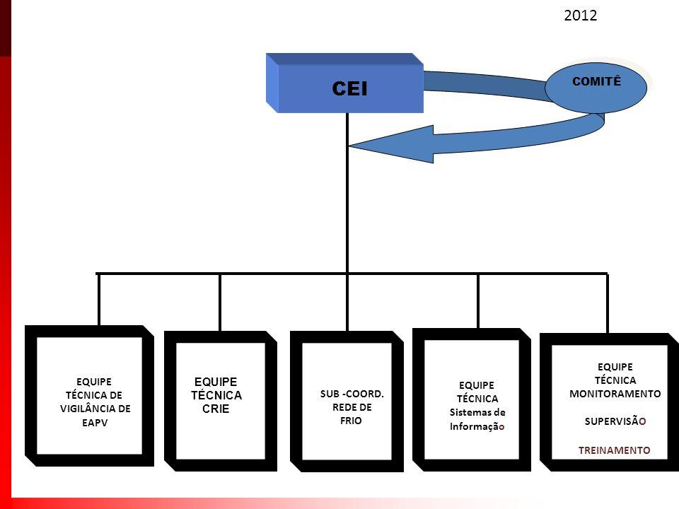 CEI 2012 SUB -COORD. REDE DE FRIO EQUIPE TÉCNICA Sistemas de