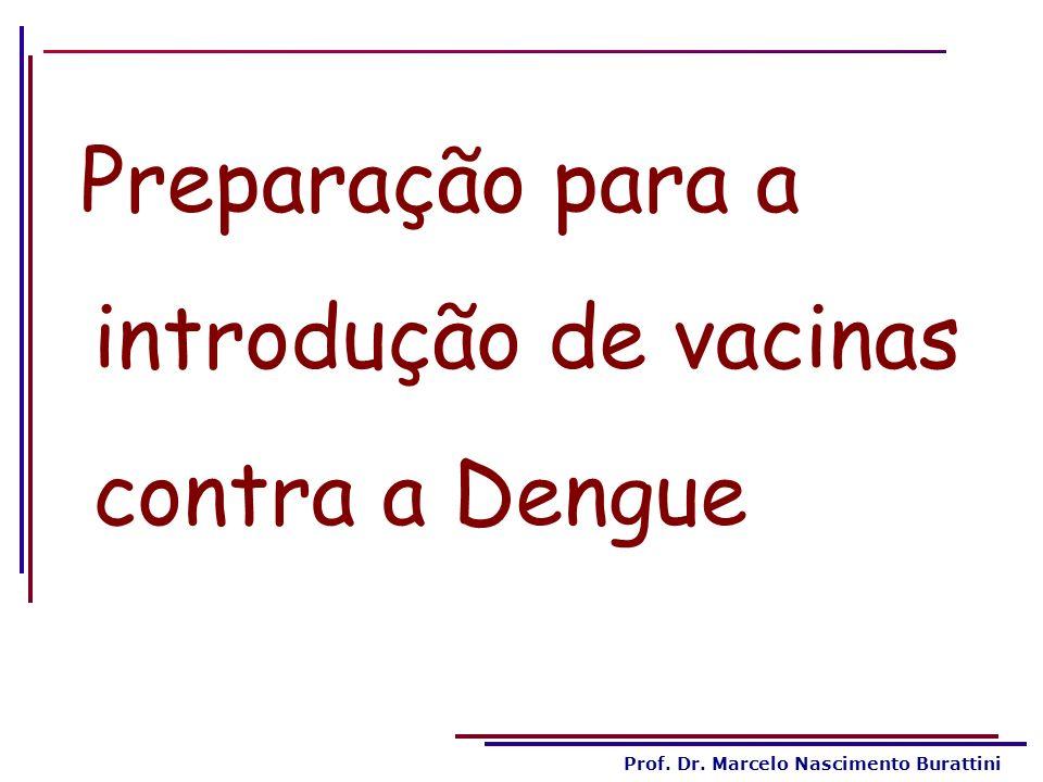 Preparação para a introdução de vacinas contra a Dengue
