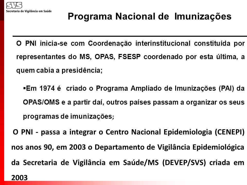 Programa Nacional de Imunizações
