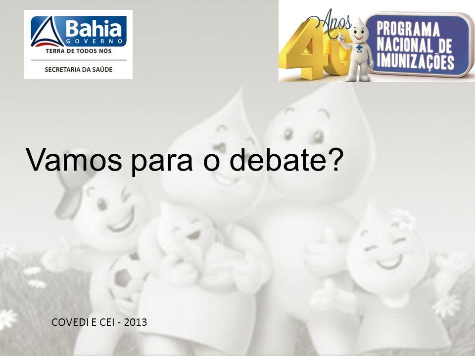 OBRIGADA PELA ATENÇÃO!!! Vamos para o debate COVEDI E CEI - 2013