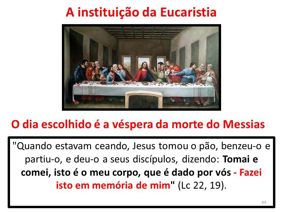 A instituição da Eucaristia
