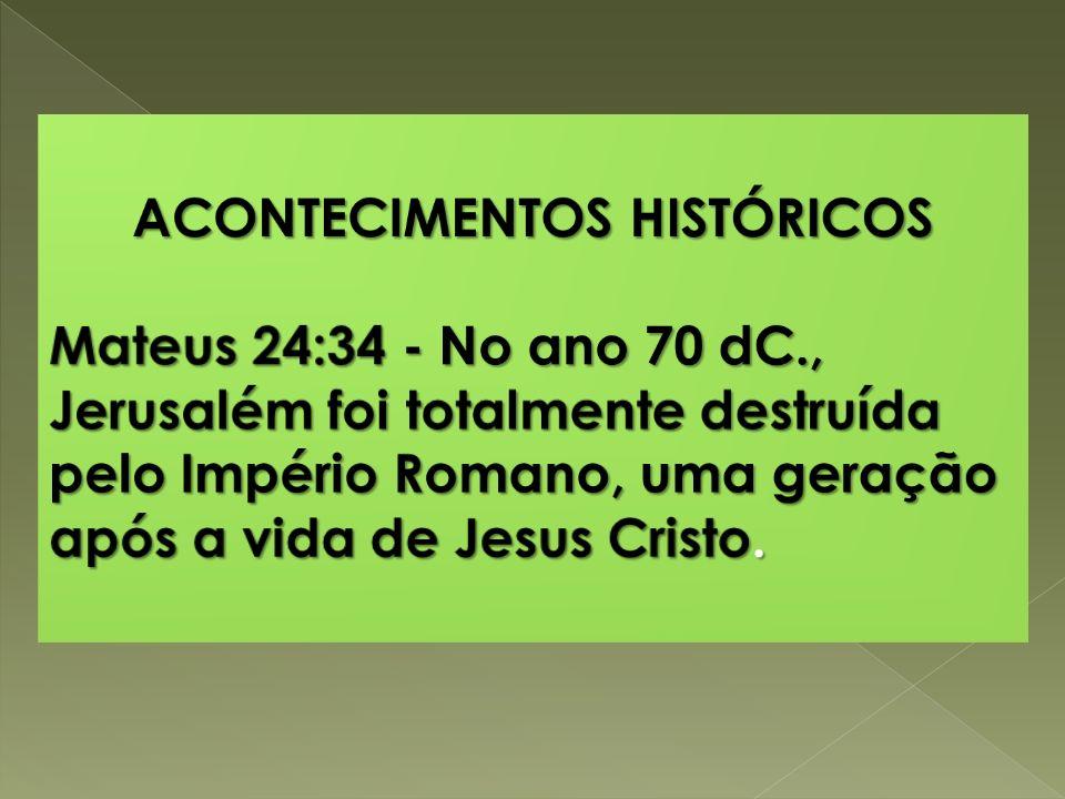 ACONTECIMENTOS HISTÓRICOS