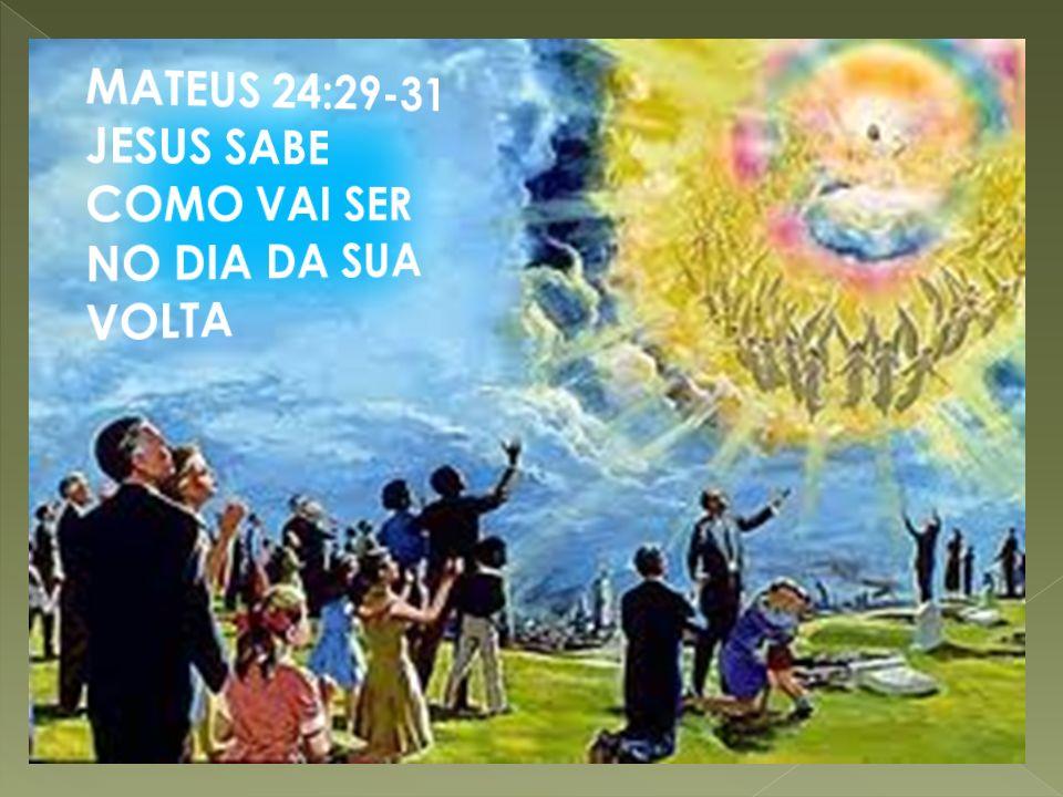 MATEUS 24:29-31 JESUS SABE COMO VAI SER NO DIA DA SUA VOLTA