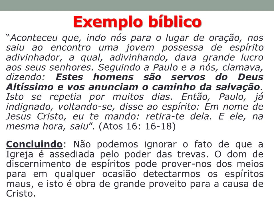 Exemplo bíblico