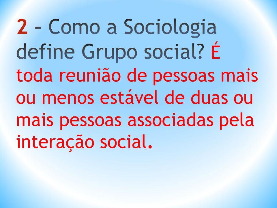 2 – Como a Sociologia define Grupo social