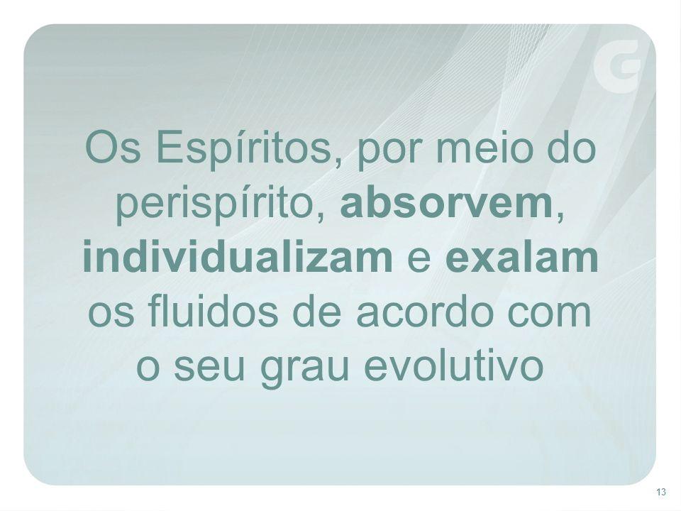 Os Espíritos, por meio do perispírito, absorvem, individualizam e exalam os fluidos de acordo com o seu grau evolutivo