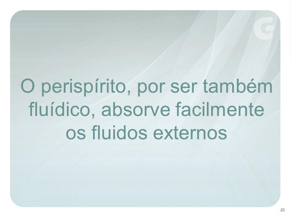 O perispírito, por ser também fluídico, absorve facilmente os fluidos externos