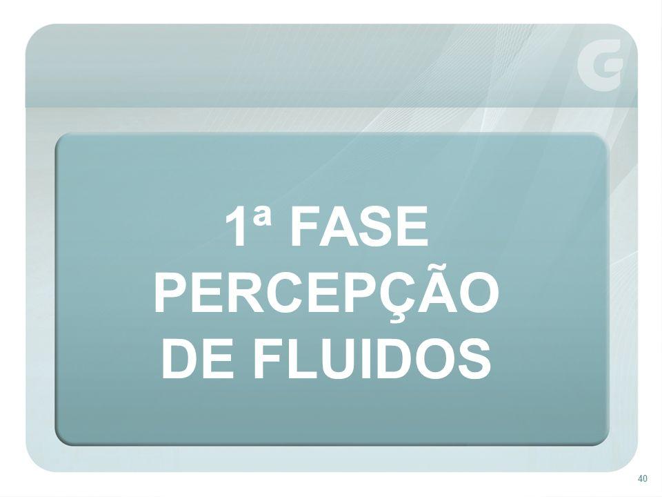 1ª FASE PERCEPÇÃO DE FLUIDOS