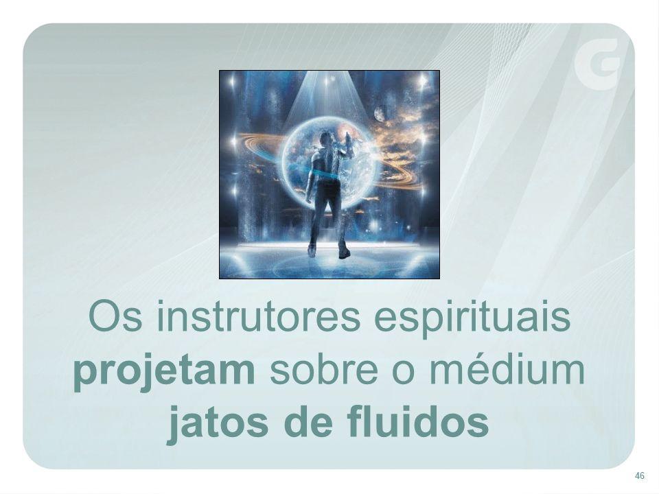 Os instrutores espirituais projetam sobre o médium jatos de fluidos
