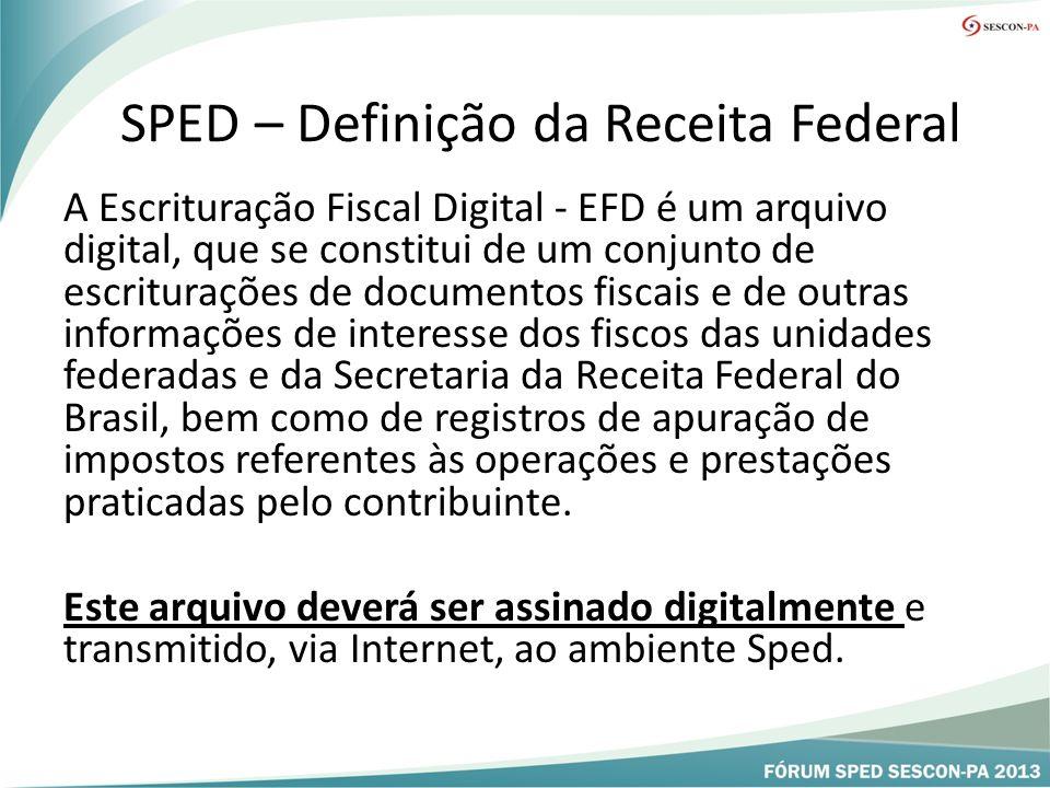 SPED – Definição da Receita Federal