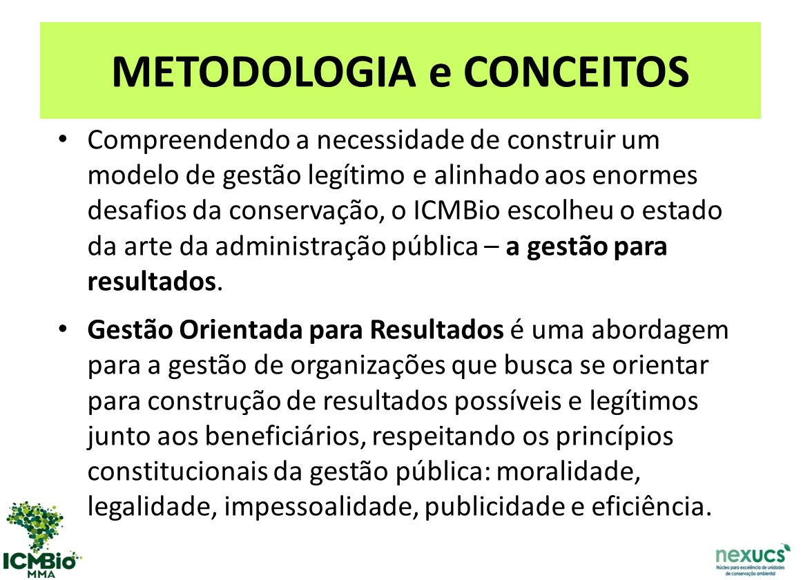 METODOLOGIA e CONCEITOS