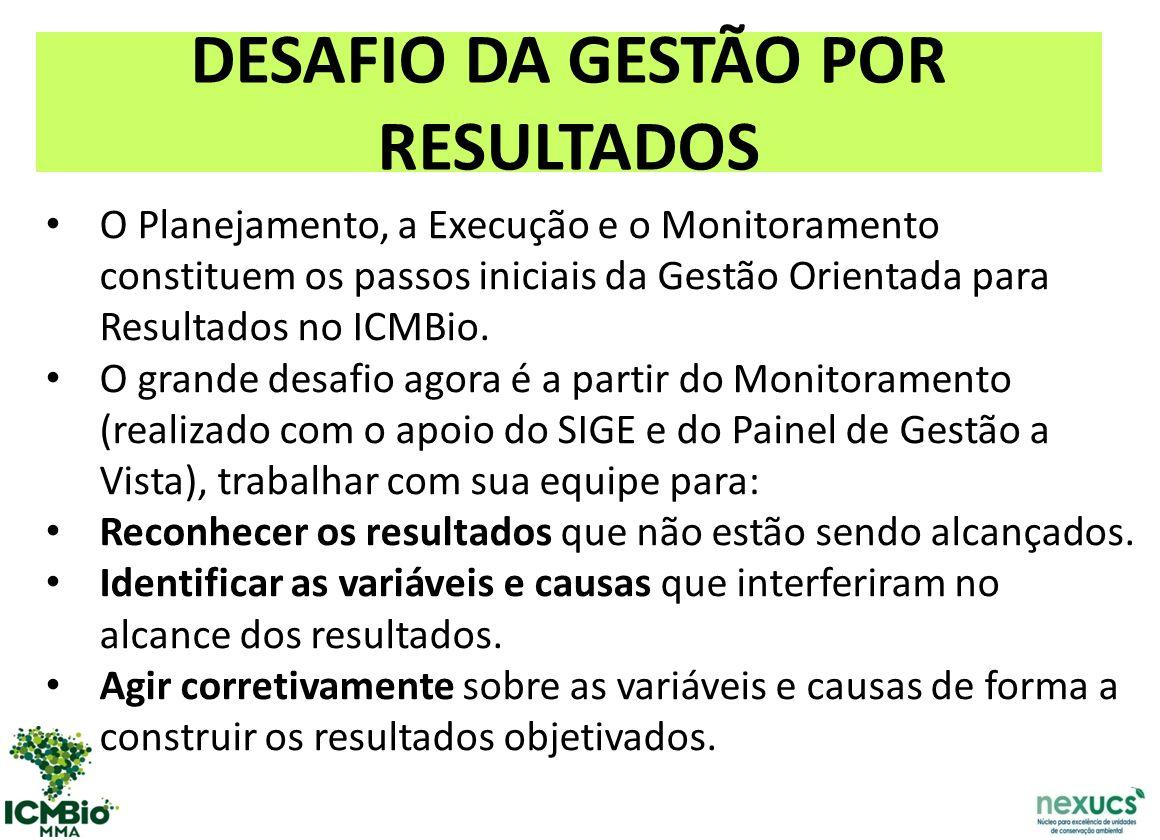 DESAFIO DA GESTÃO POR RESULTADOS
