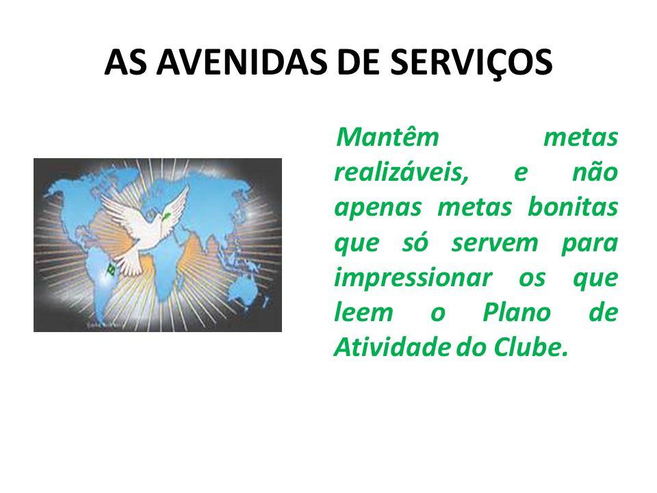 AS AVENIDAS DE SERVIÇOS