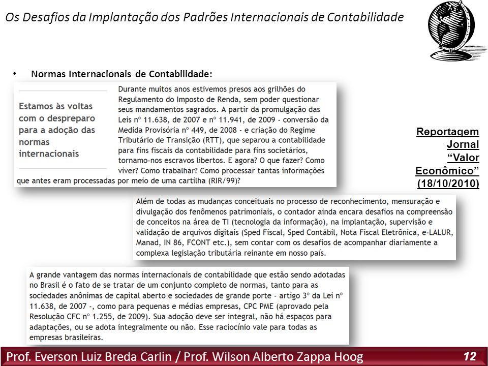 Os Desafios da Implantação dos Padrões Internacionais de Contabilidade