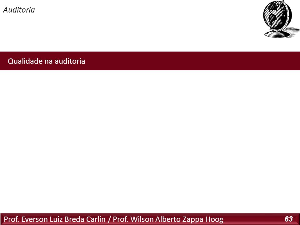 Auditoria Qualidade na auditoria: