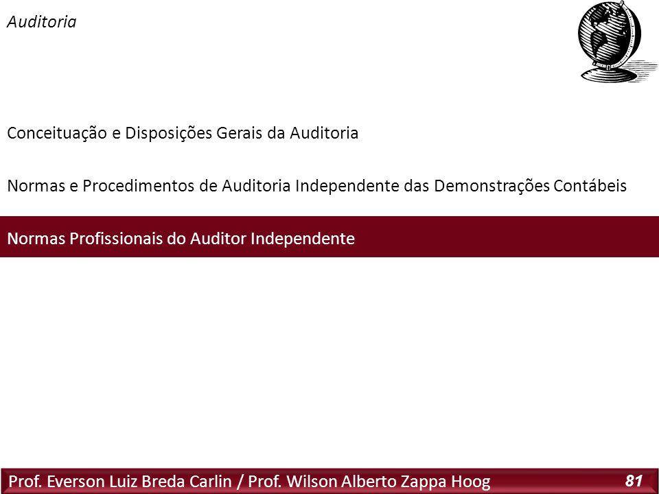 Auditoria Normas Profissionais do CFC Relativas à Auditoria: NBC P 1.1