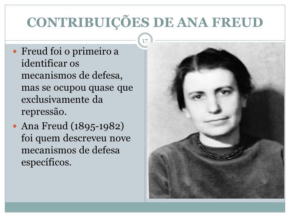 CONTRIBUIÇÕES DE ANA FREUD