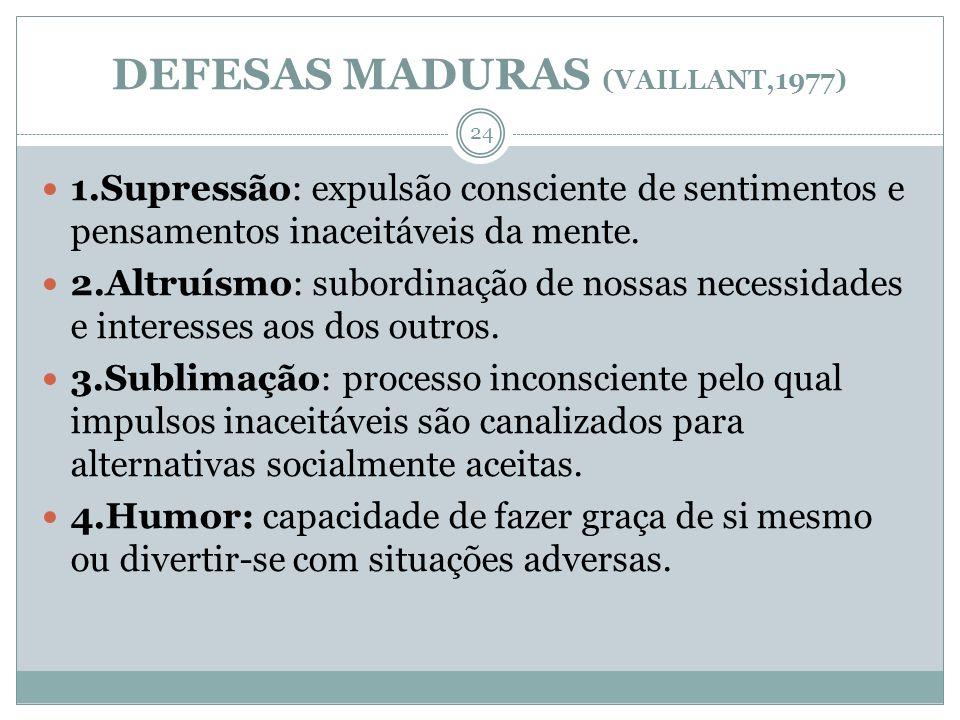 DEFESAS MADURAS (VAILLANT,1977)