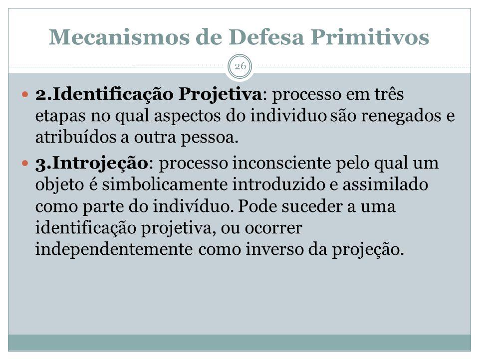 Mecanismos de Defesa Primitivos