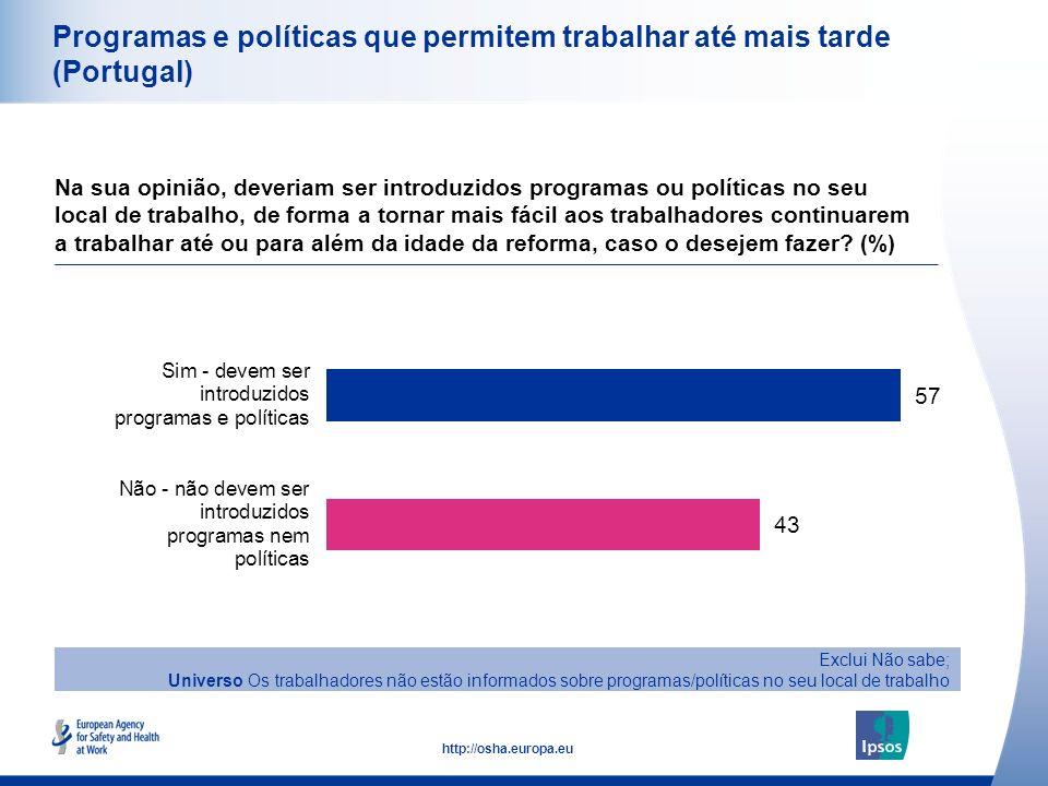 Programas e políticas que permitem trabalhar até mais tarde (Portugal)