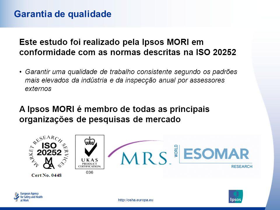 Garantia de qualidade Este estudo foi realizado pela Ipsos MORI em conformidade com as normas descritas na ISO 20252.