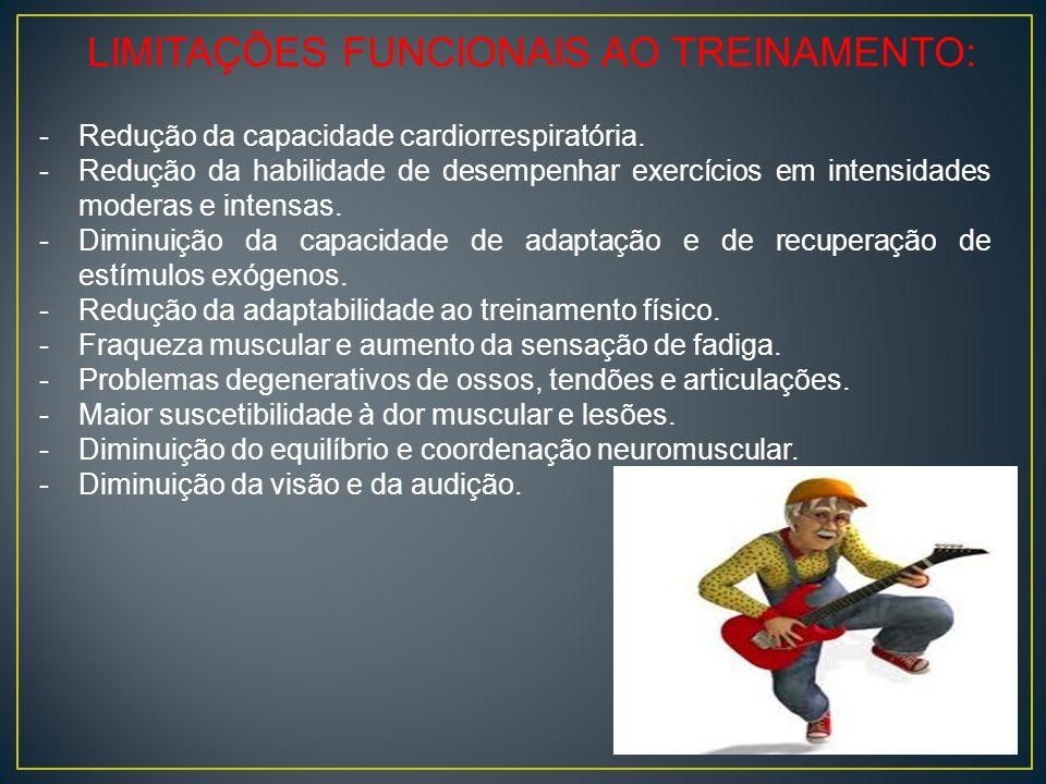LIMITAÇÕES FUNCIONAIS AO TREINAMENTO: