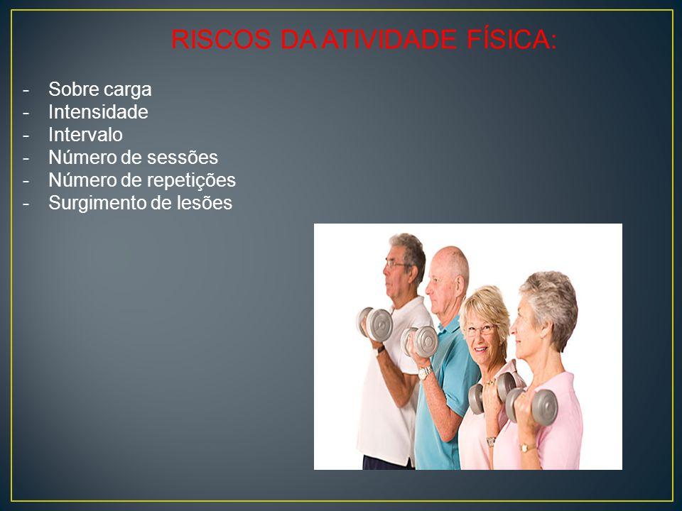 RISCOS DA ATIVIDADE FÍSICA: